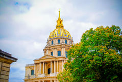 The French National Residence of the Invalids in Paris Royalty Free Stock Photo