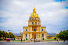 The French National Residence of the Invalids in Paris Royalty Free Stock Photos