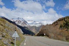 French national road in the mountains Royalty Free Stock Photography