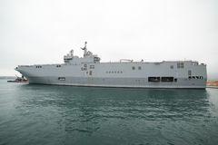 French navy Mistral class helicopter carrier Royalty Free Stock Photo