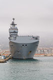 French navy Mistral class helicopter carrier Royalty Free Stock Photos