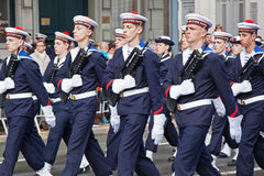 French Navy on Parade Royalty Free Stock Images