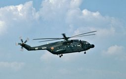 French Navy Sud SA-321G Super Frelon helicopter stock image
