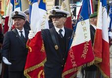 The French Navy veterans, Paris, France. Royalty Free Stock Photos