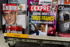 French News Magazines on Kiosk, Royalty Free Stock Photos
