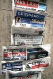 French newspapers Stock Photography