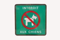French no dogs sign Stock Photos