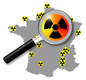 French nuclear energy, map Royalty Free Stock Photography