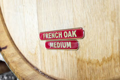 French Oak Wine Barrel Stock Image