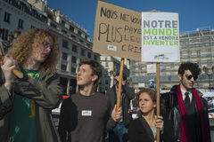 French Occupy France, Demonstrating Royalty Free Stock Images