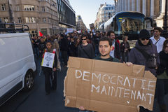 French Occupy France, Demonstrating Royalty Free Stock Photography