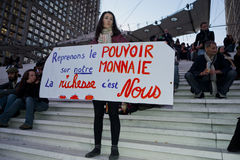 French Occupy France, Protest Teenagers Royalty Free Stock Photos