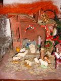 French old nativity scene Royalty Free Stock Photos