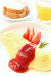 French omelet breakfast Stock Images