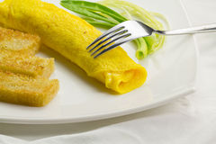 French omelet. Royalty Free Stock Image