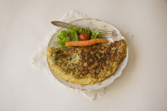 French omelet on white Stock Images