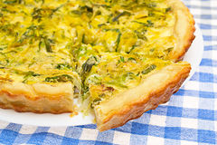 French onion quiche Stock Image