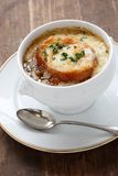 French onion soup. Also, onion gratin soup, french cuisine Royalty Free Stock Image