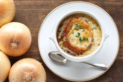 French onion soup Stock Image