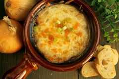 French onion soup Royalty Free Stock Photography