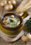 French onion soup. With cheese Royalty Free Stock Photo
