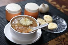 French onion soup, Onion and bread Soup stock photography