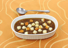 French Onion Soup with Croutons Stock Photography