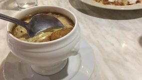 French onion soup stock video footage