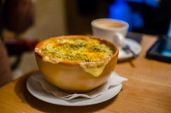 French onion soup at restaurant Stock Photo