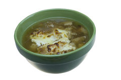 French onion soup on white Royalty Free Stock Photography