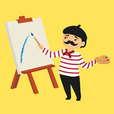 French Painter Vector Illustration Royalty Free Stock Photos