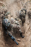 French paratroopers in action Royalty Free Stock Photos