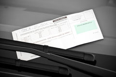 French parking ticket Stock Images