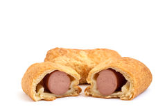 French pastries. On a white background Royalty Free Stock Photography