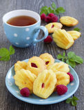 French pastries madeleines Stock Photo