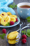 French pastries madeleines Royalty Free Stock Photography