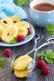 French pastries madeleines Royalty Free Stock Photos