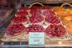 French Pastries in Paris Stock Photos