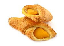 French pastry apricot cakes Stock Image