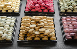 French pastry. Macaroons, traditional French pastry in Paris Royalty Free Stock Photography