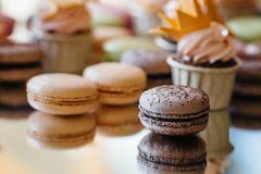 French pastry makaron. Selective focus. Royalty Free Stock Image