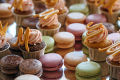 French pastry makaron. Selective focus. Stock Images