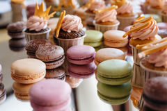 French pastry makaron. Selective focus. Royalty Free Stock Photo