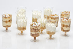 French pastry(mille feuille) in small glasses Stock Images