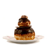 French patisserie on a  plate Stock Images