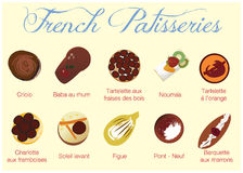 French Patisseries Royalty Free Stock Photos