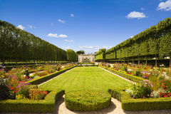 French pavilion and garden. From le Petit Trianon of Marie-Antoniette's estate in Versailles Chateau. France series Royalty Free Stock Photography