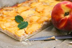 French peach pie Royalty Free Stock Images