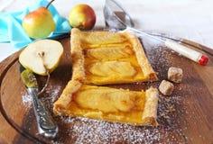 French pear tart Stock Photo
