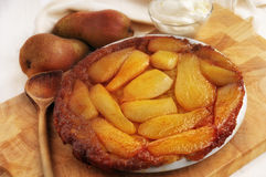 French Pears Tart Stock Image